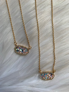 Glitter Dainty Necklace - Multi