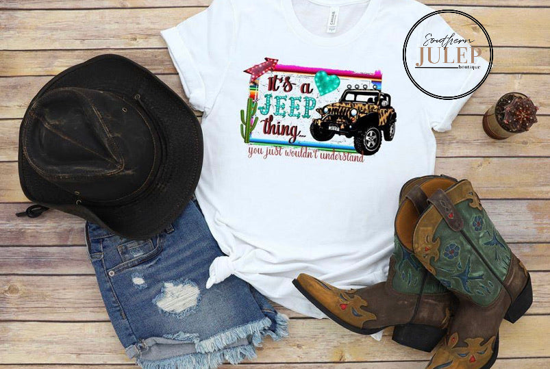 It's A Jeep Thing Short Sleeve Tee - Custom Printed Preorder Tees