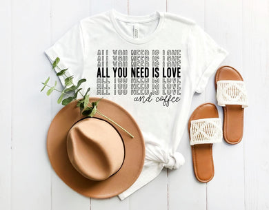 PREORDER - All You Need is Love & Coffee Boutique Soft Tee