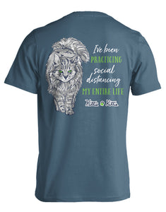 PREORDER Social Distancing SS Tee Shirt by Kittie Kittie Rescue