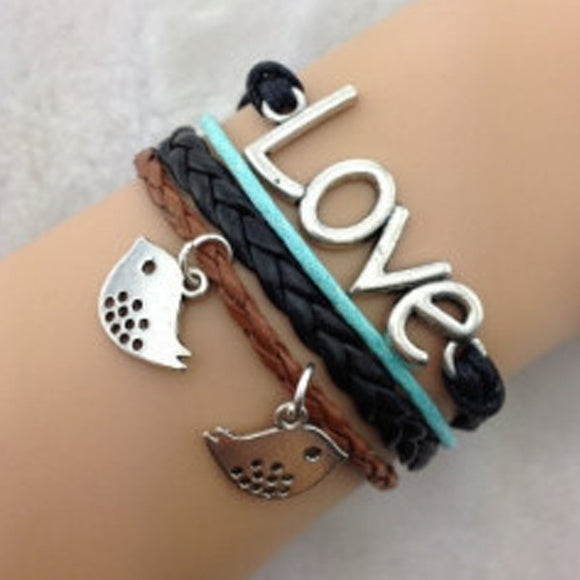 Birdy Love Black Blue Bracelet