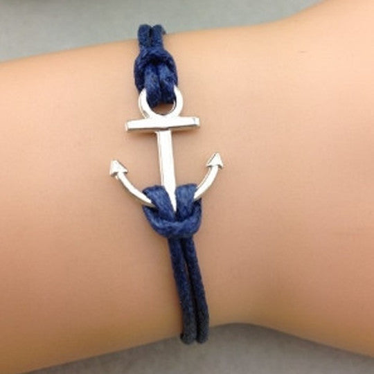 Simply Anchor Blue Bracelet