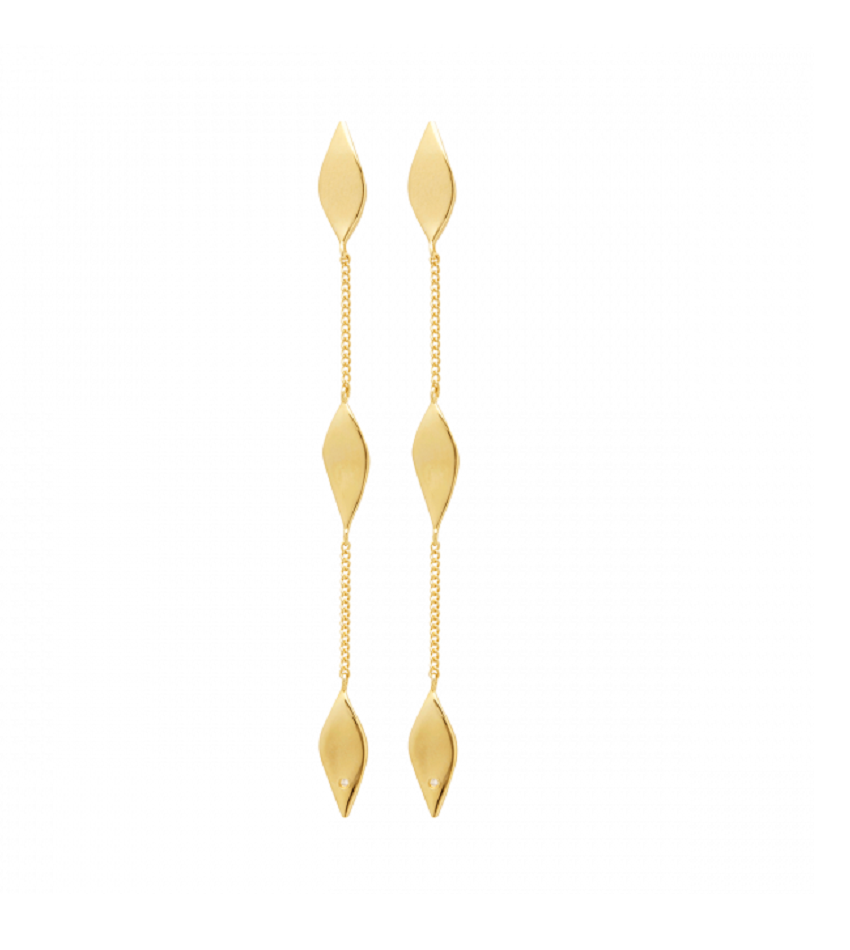 Raw Diamond 0311 Earring Gold
