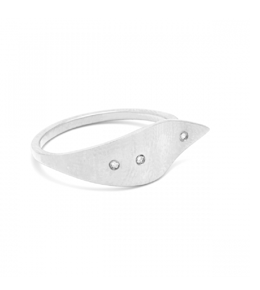 Raw Diamond 0401 Ring Silver