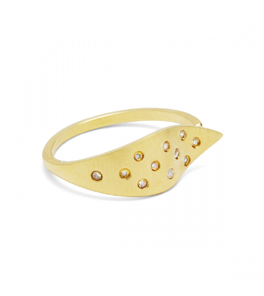 Raw Diamond 0402 Ring Gold
