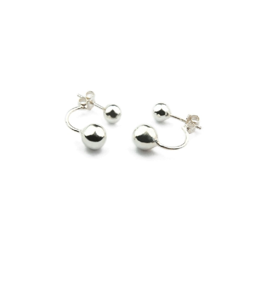 Ball Silver Earrings