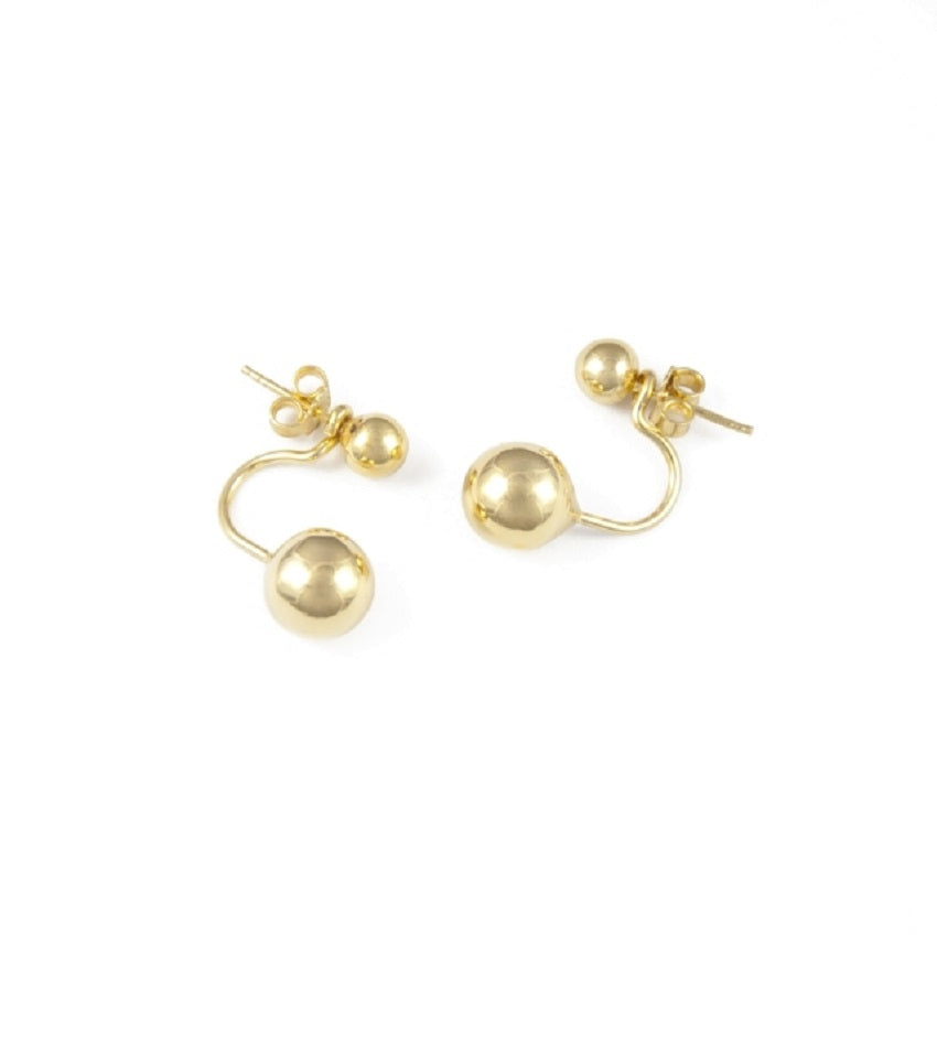 Ball Gold Earrings
