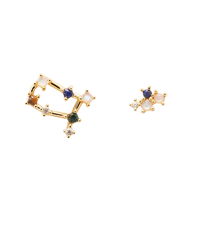 Gemini Earrings Gold