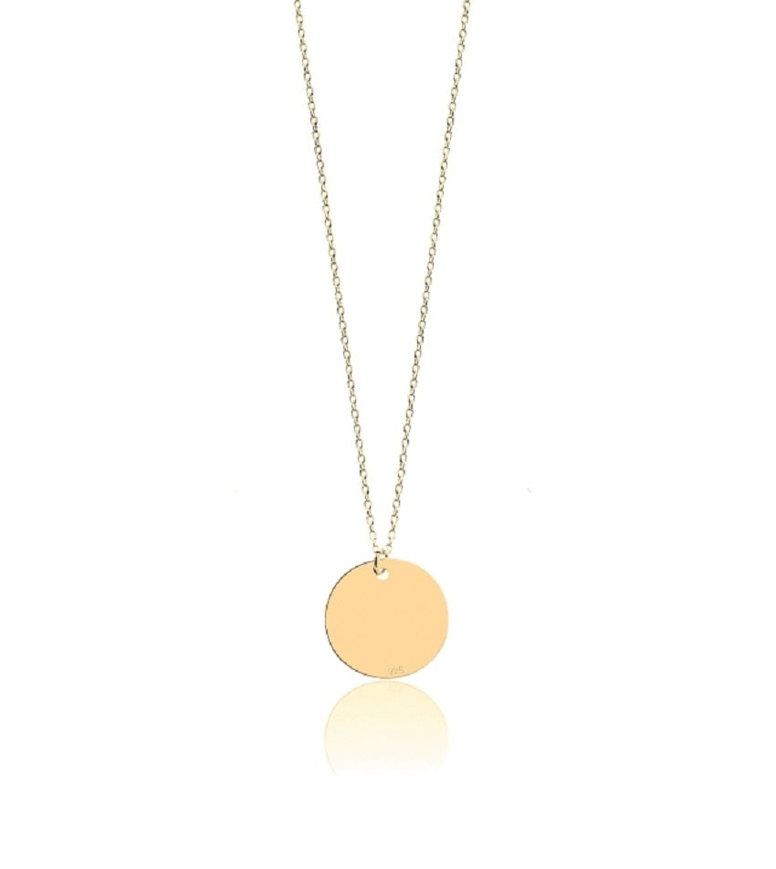 Short Coin Gold Necklace
