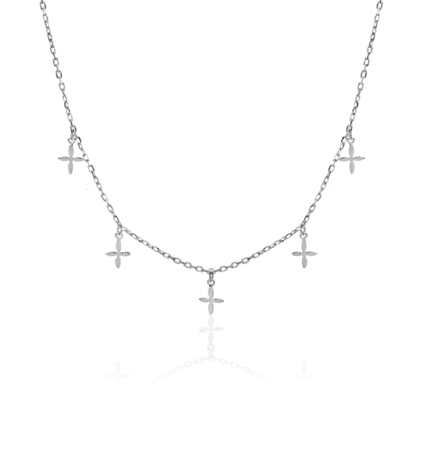 Cross Silver Chocker