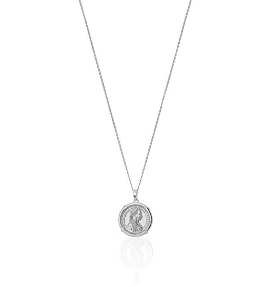 Medallion Necklace Silver