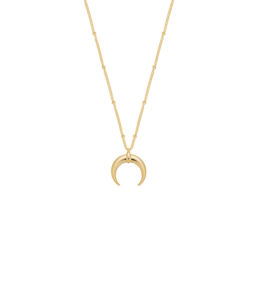Big Moon Gold Necklace