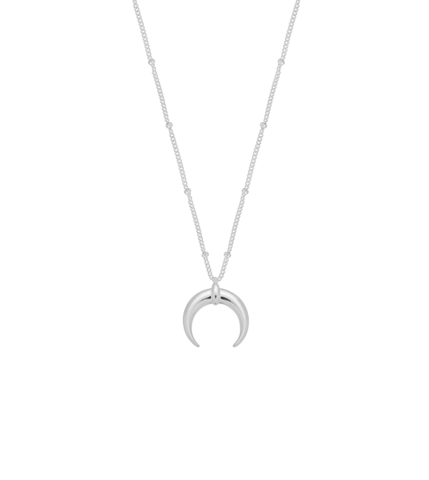 Big Moon Silver Necklace