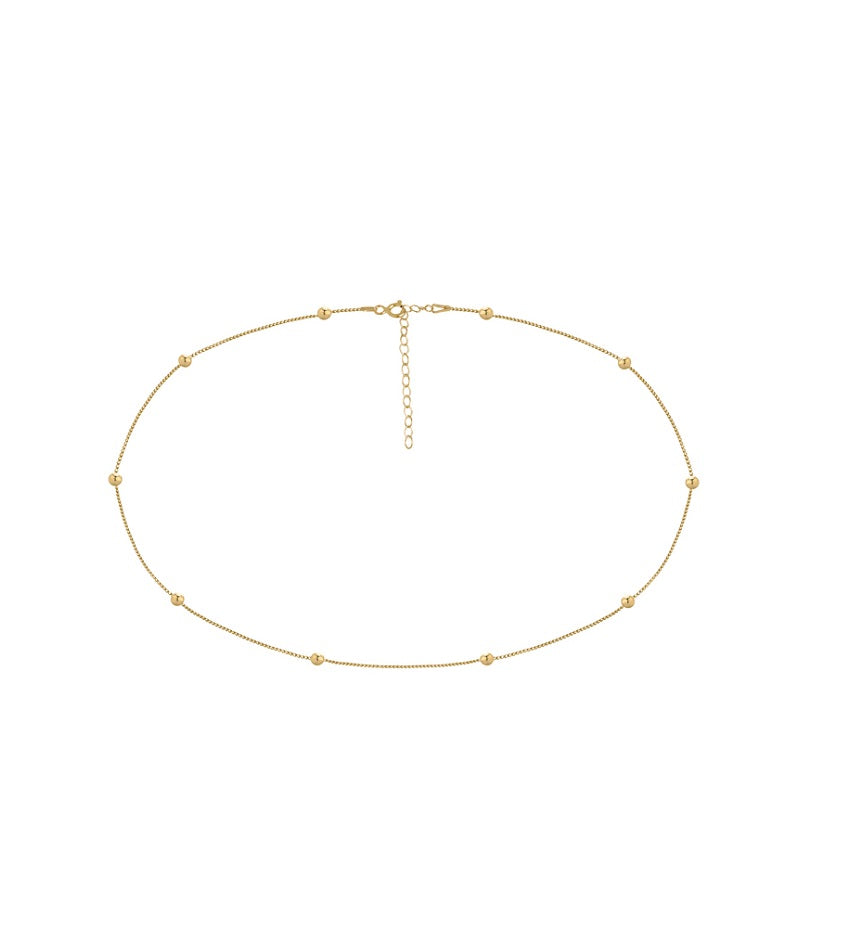Dots Gold Chocker