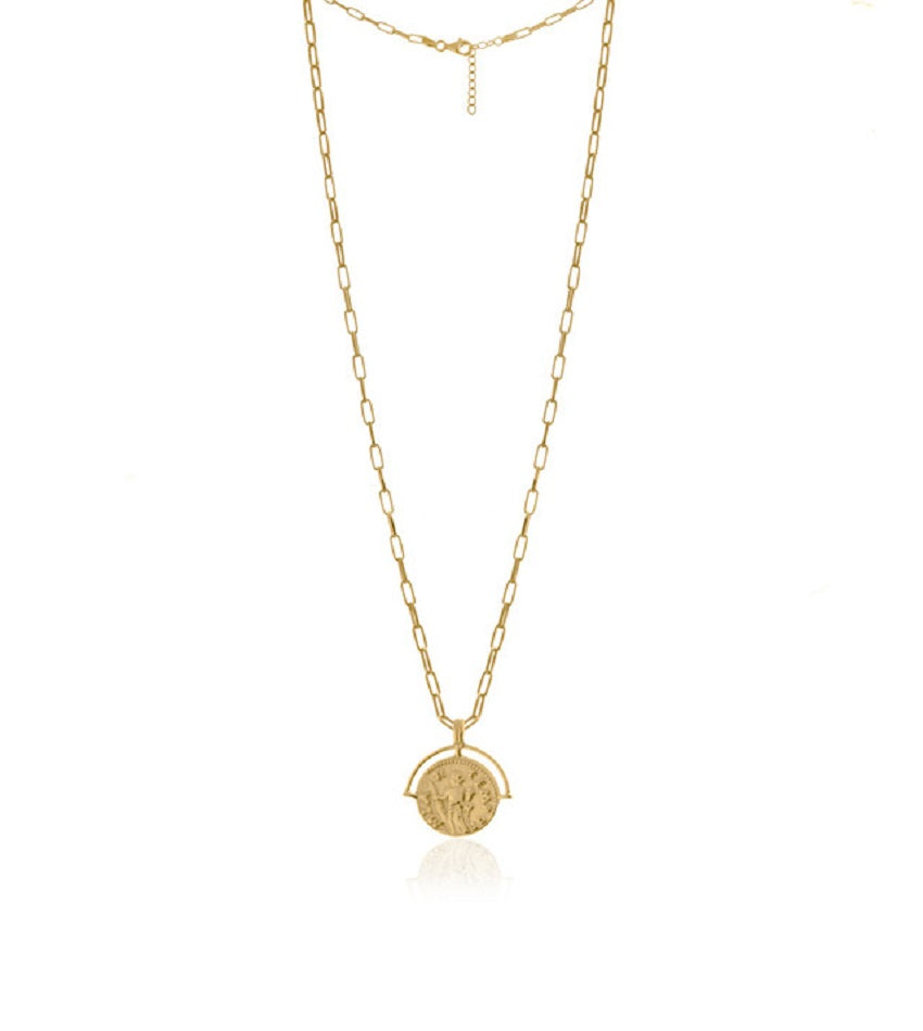 New Medallion Gold Necklace