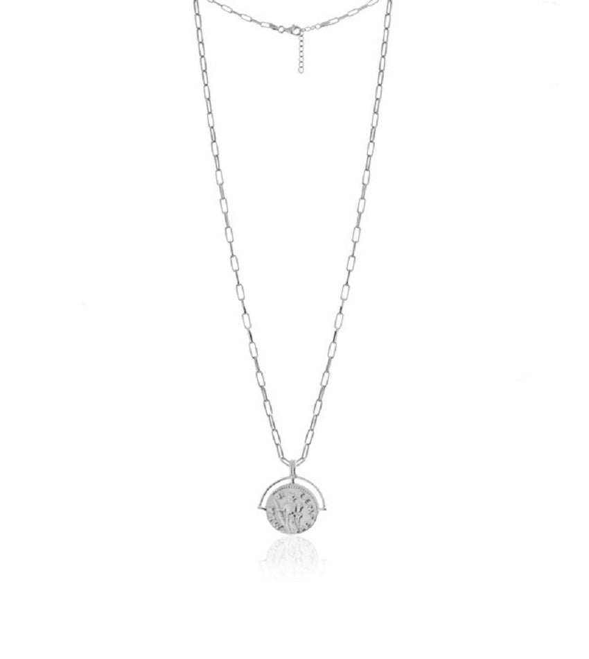 New Medallion Silver Necklace