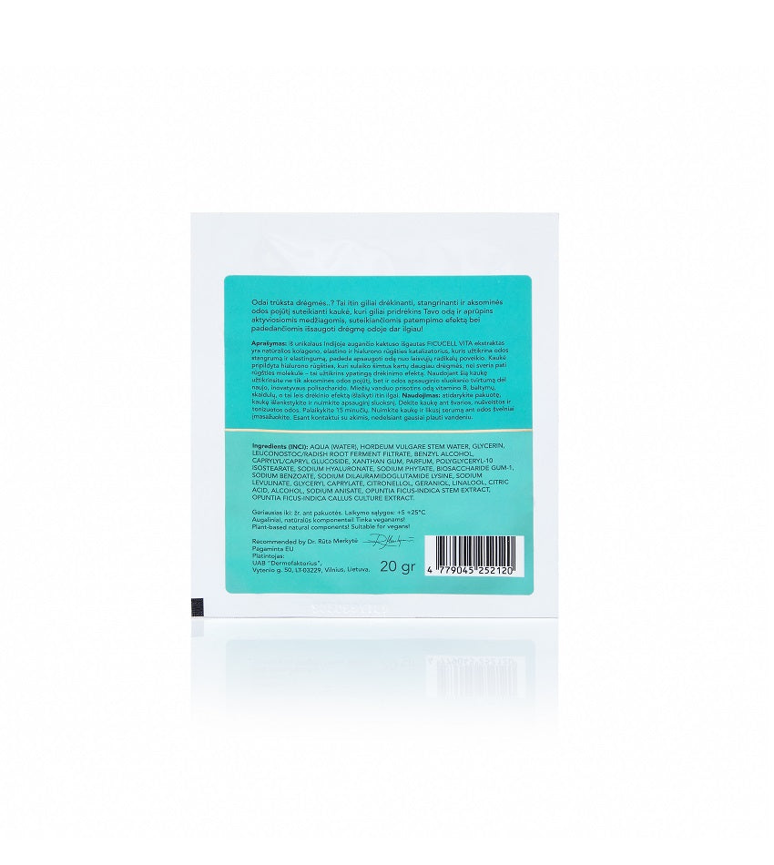 "Organic cotton sheet face mask ""TIME EXPERT"" 