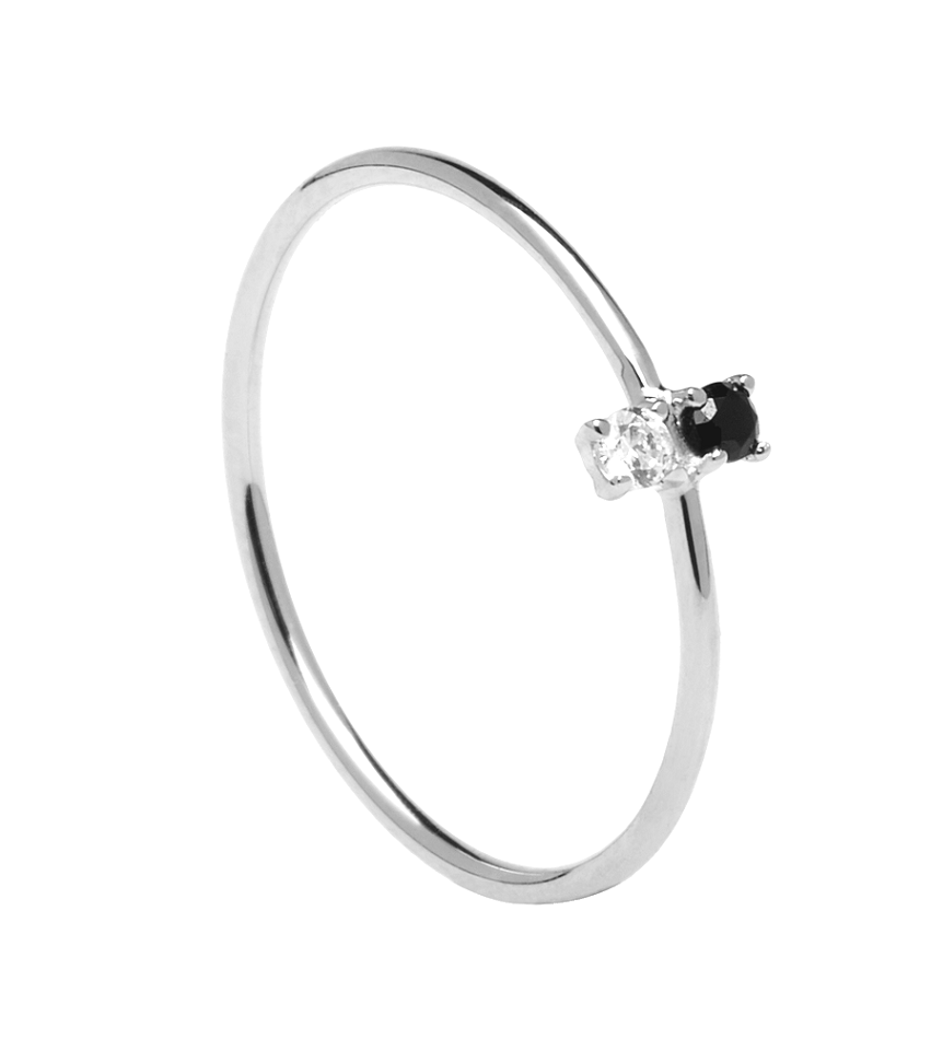 CARBON Ring Silver