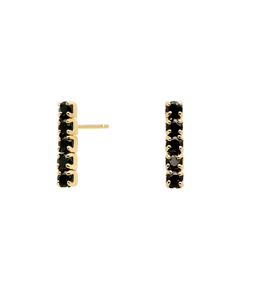 BLACK KIRA Earrings Gold