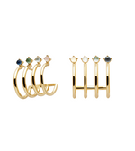 AQUA Earrings Gold