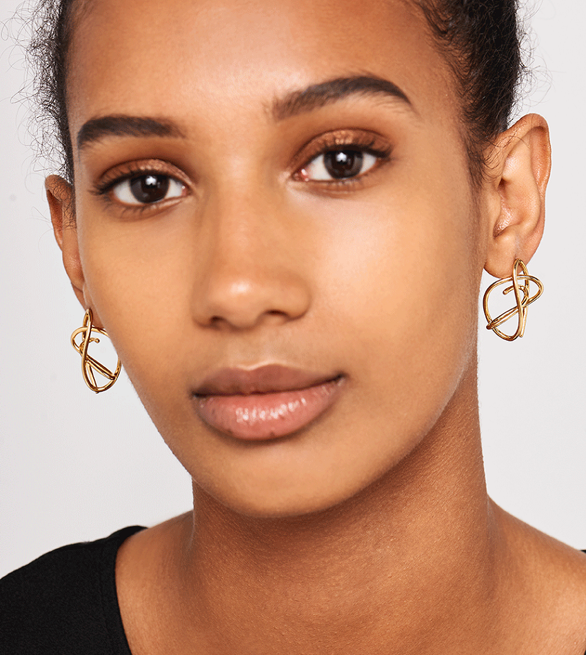 ESHA Earrings Gold