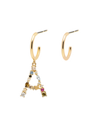 A Letter Earrings Gold