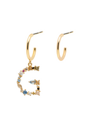 G Letter Earrings Gold