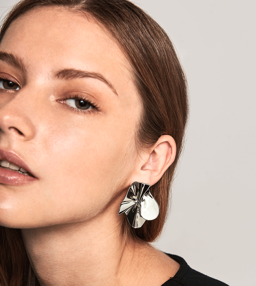 NOMAD Earrings Silver