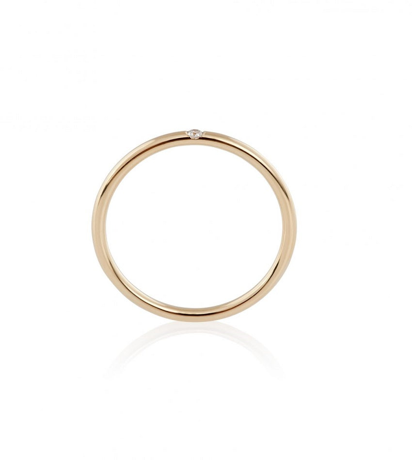 Diamond Line Ring - 18K Gold
