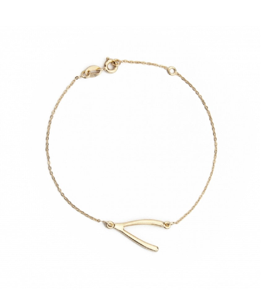 Wishbone Gold Bracelet