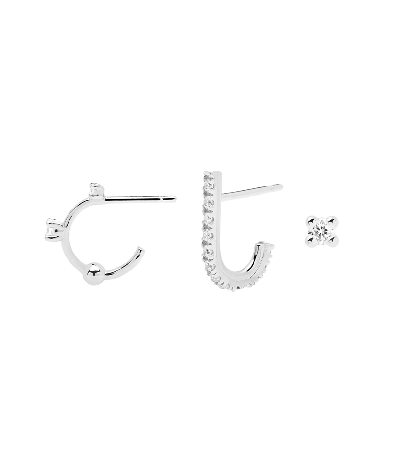 L'OISEAU Silver Earrings Set