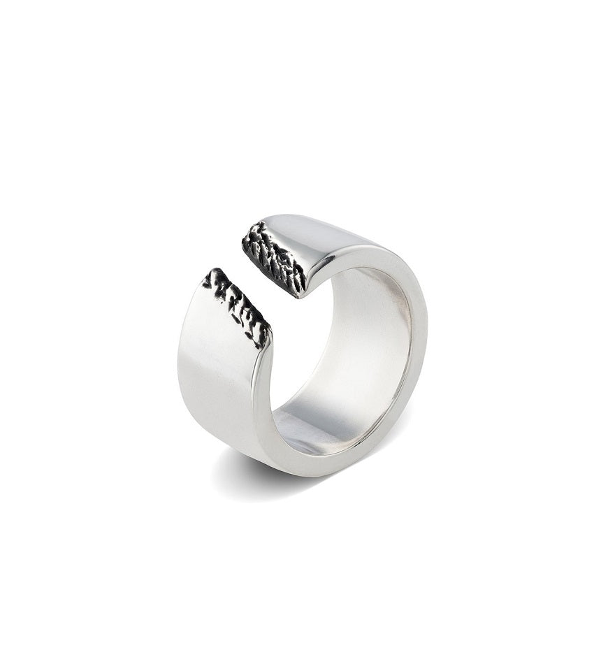 Men's Broken Ring Silver