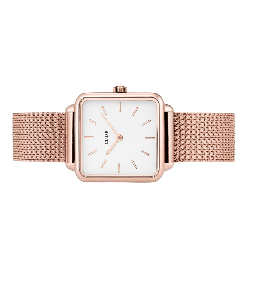 La Garconne Rose Gold Mesh/White
