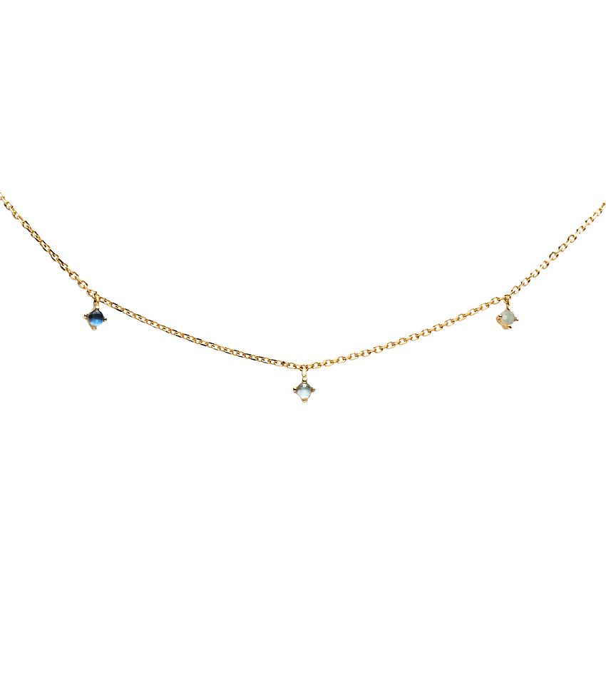 NAVY Necklace Gold