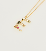E Necklace Gold