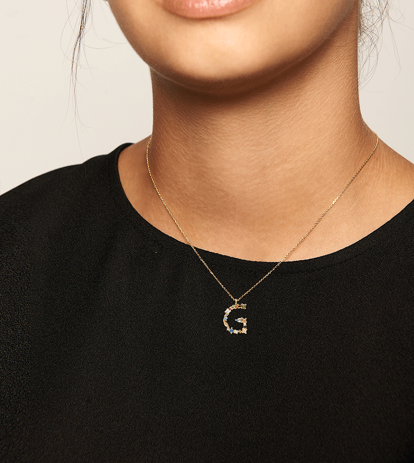 G Necklace Gold