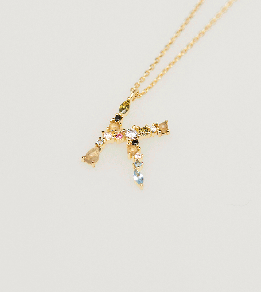 K Necklace Gold