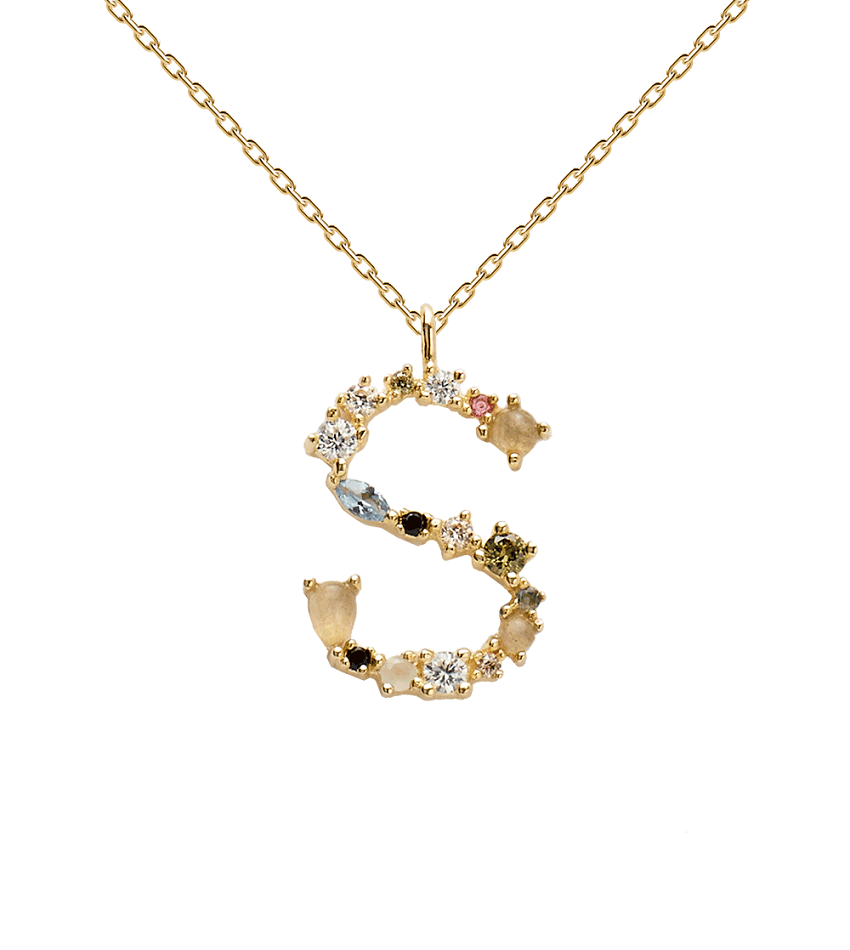 S Necklace Gold