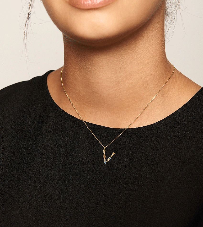 V Necklace Gold