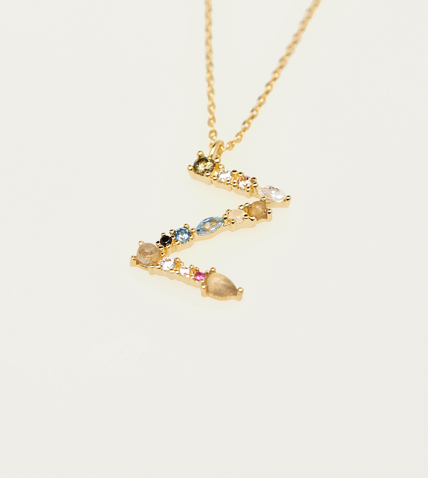 Z Necklace Gold