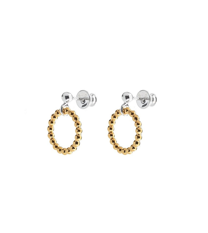 Champagne Circle Earrings Gold