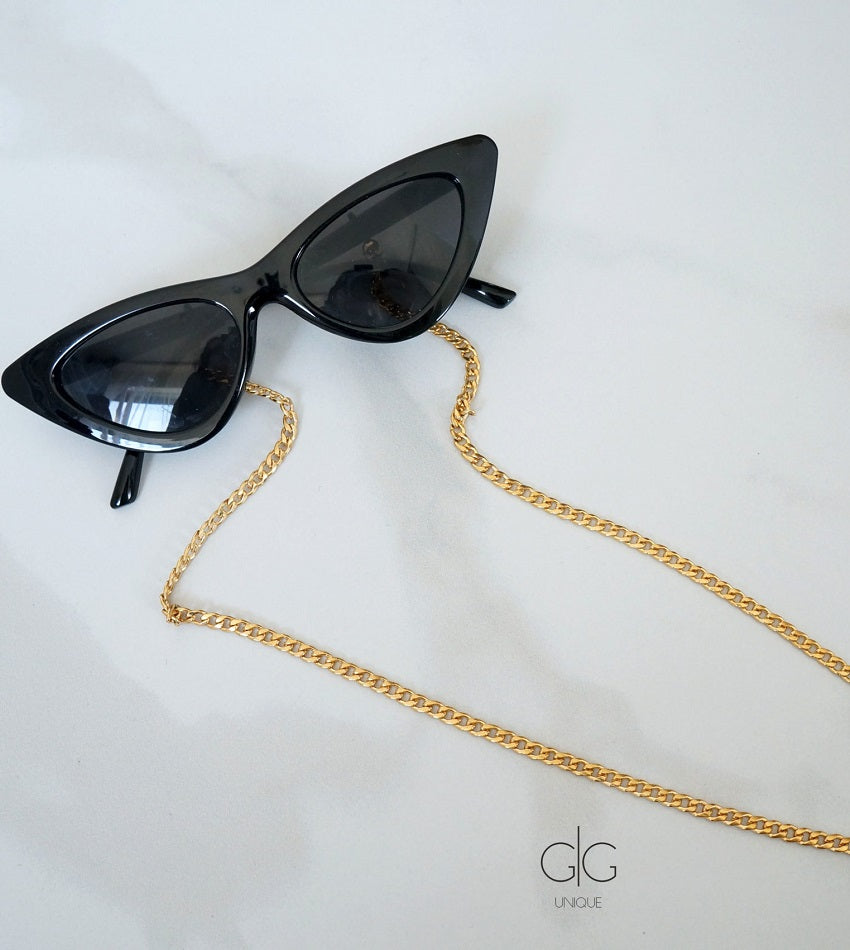 Glasses chain gold plated stainless steel