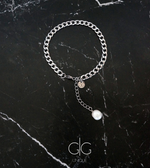 Stainless steel anklet with a freshwater pearl
