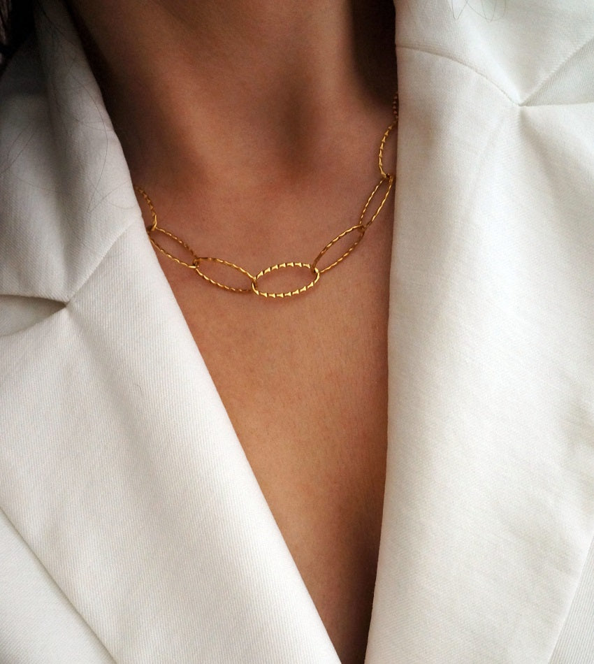 Vintage gold plated stainless steel necklace