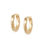 STACKED ROPE HUGGIE HOOP EARRINGS GOLD
