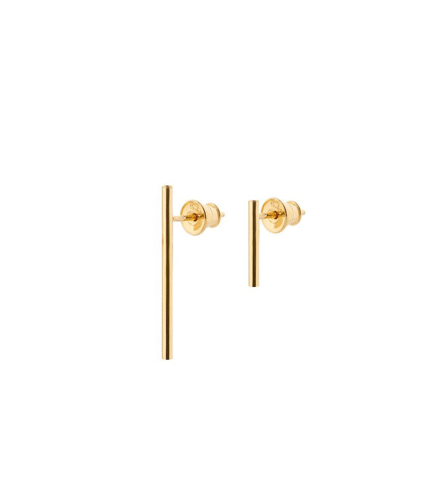 French Couple Earrings Gold