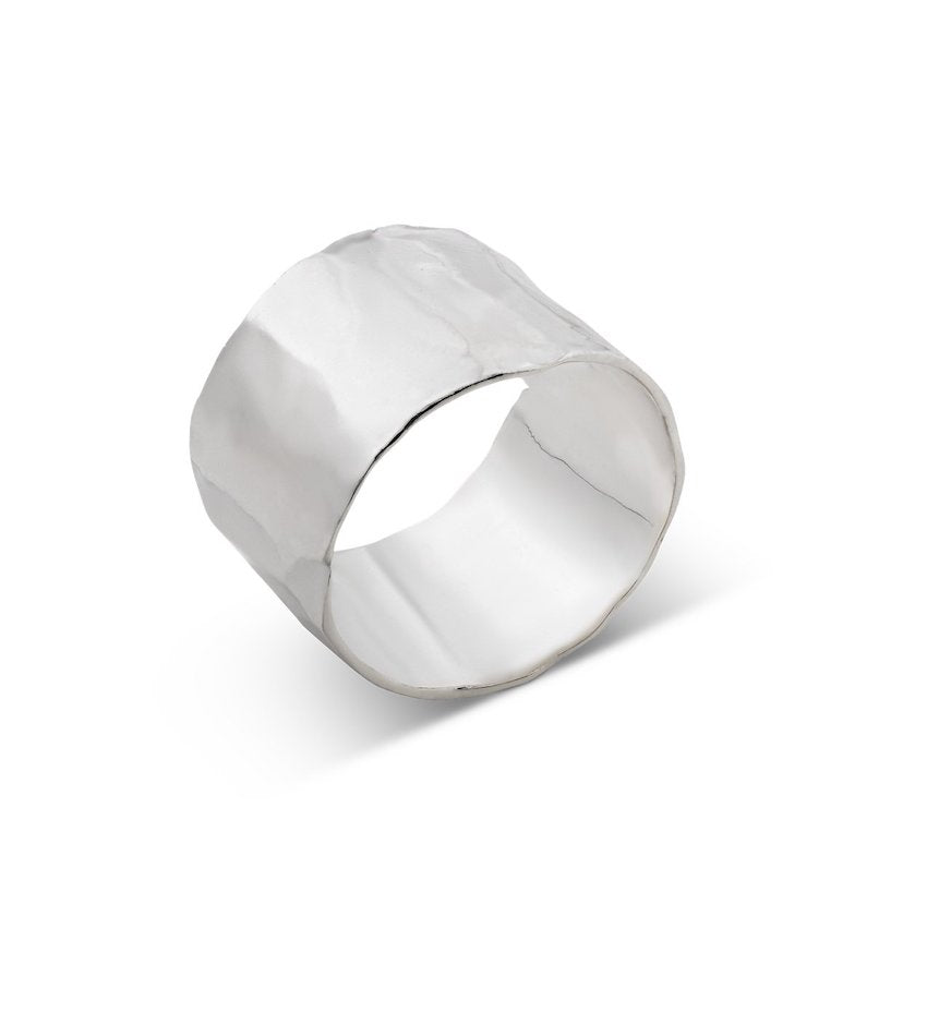 Hammered Ring Silver