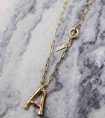 Personalized initial chunky chain necklace
