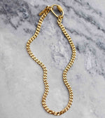 Golden curb chain necklace