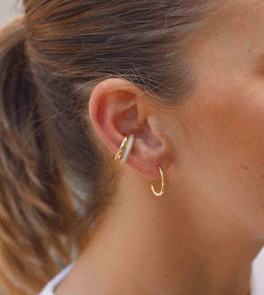 Golden ear cuff